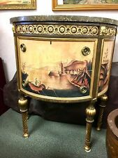 Elegant Drexel Furniture Bombe Chest of Drawers Commode Nine Elms Marble Top 33""