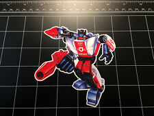 Transformers G1 Red Alert box art vinyl decal sticker Autobot toy 1980's 80s