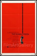 THE HUMAN FACTOR 1980 1 sheet poster SAUL BASS art Otto Preminger filmartgallery