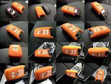 HIGH QUALITY SILICONE KEYLESS SMART 3 4 KEY FOB PROTECTOR CASE BMW M  (ORANGE)