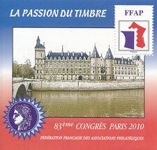 BLOC FFAP N° 04 ** 83ème Congrès Paris 2010