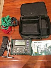 Megger Mitchell earth resistance tester MIT2302 0-200V, 0-4Kohm w/ Case, Cables