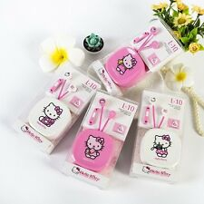 Very Cute Hello Kitty Earphone with Case and Microphone