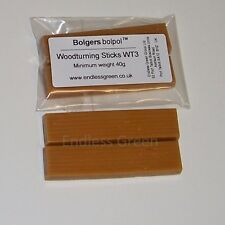 Bolgers 2 x Carnauba Wax Woodturning Sticks - High Shine & Hard Finish On Wood