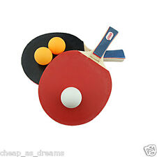 TENNIS DA TAVOLO PING PONG SET 2 PLAYER include 3 PALLE due TONDA BAT GIOCO SET UK