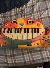 Meowsic Kids Keyboard Microphone Orange Cat Piano Children's Music Toy Sounds