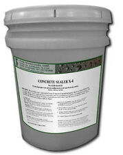 5 Gallons of Gloss Concrete Sealer X-4 for stamped colored & aggregate concrete