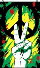 3'x5' Peace Graffiti Flag Banner Sign Hippy Marijuana Rasta Party Outdoor 3X5