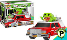 "GHOSTBUSTERS ~ ECTO-1 With Slimer 6"" Exclusive Vinyl Pop! Rides Figure (Funko)"