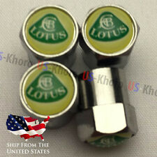 LOTUS Rims Logo Valves Stems Caps Chromed Covers Wheels Air Car Tires Set 4 USA