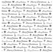 Unmounted rubber stamp Christmas Text Square - SA8002