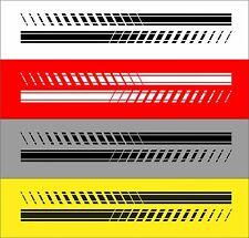 2x Seitenstreifen Aufkleber Sport Racing Streifen Dekorstreifen Dekorset Auto