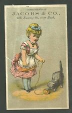 1880's Trade Card Jacobs & Co. Ladies Childrens Infants Wear San Francisco Ca.