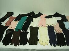 30 PAIRS VINTAGE LADIES FANCY GLOVES ~ SIZE 6 1/2 ~ GREAT NYLON COTTON LOT!