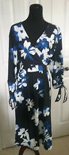 ELOQUII WOMENS PLUS SIZE 22 FLORAL DRESS NEW NWT TIE-SLEEVES