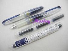 2Pcs Pilot Petit1 SNP-20F Mini Fine Nib Fountain Pen+ 6 Cartridges, BLUE BLACK