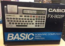 Casio FX-802P Vintage Programmable Printing Calculator RARE Retro NEW IN BOX