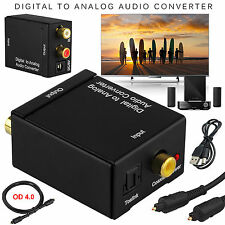 Digital SPDIF Optical Toslink Coax to Analog RCA Audio Converter + 1.5M Cable