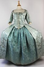 18th Century Blue Silk Robe A L'Anglaise and Petticoat from China