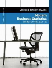 Modern Business Statistics with Microsoft® Excel® by David R. Anderson,...