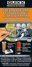 Quixx Headlight Restoration Kit & Lens Sealer Headlamp Restorer Prevent & Cure