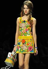 MOSCHINO RUNWAY 60's Floral-print Embellished Mini Dress IT 42 U.S 6 NWOT