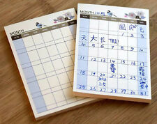 Mini Home Office Monthly Journal Schedule Planner Memo Note Pad Paper Student #U