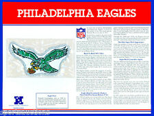 PHILADELPHIA EAGLES Willabee & Ward NFL TEAM EMBLEM PATCH COLLECTION + INFO CARD
