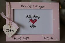 Personalised Photo Frame by Filly Folly! New Baby Christening Dedication Gift!
