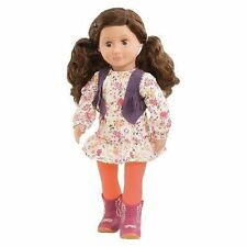 "NEW Our Generation Jackie 18"" Doll Brown Hair & Eyes Outfit Fits American Girl"