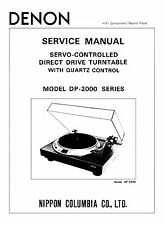 DENON DP-2000 TURNTABLE SERVICE MANUAL 17 Pages