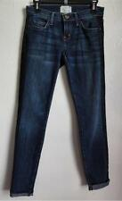CURRENT ELLIOTT THE  ROLLED SKINNY JEANS, Blue (black lace), Size 25, MSRP $248