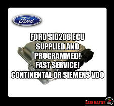 FORD SID 206 SID206 ECU SUPPLIED AND PROGRAMMED FREE MONDEO GALAXY FOCUS FIESTA