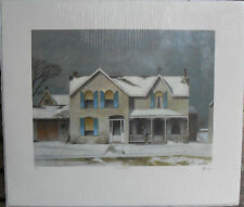 A.J. Casson,First Snow,,Signed Rare Full Signature Lt Ed. Group of Seven, COA .
