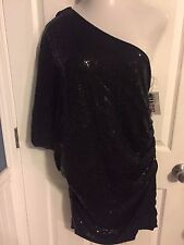NWT Umgee 2X Plus Size Sequin One Shoulder Dress Club