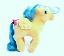 Vintage Hasbro G1 My Little Pony So Soft BOUNCY Pegasus ~ Beautiful Flocking!