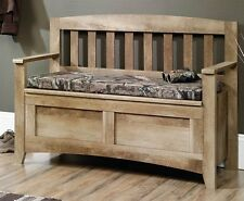 Sauder 416699 East Canyon Flip-Up Seat Storage Bench In Craftsman Oak Finish NEW