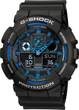 Casio G-Shock GA-100-1A2 Black Original Mens Watch 200M NEW IN BOX GA-100