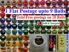 Anchor Knitting Thread Tatting Yarn Crochet Ball .1 Flat Postage / Free on 10