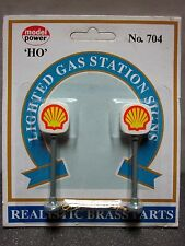 "HO Scale - Model Power #704 - Lighted Gas Station Signs ""Shell"" - 2 signs"