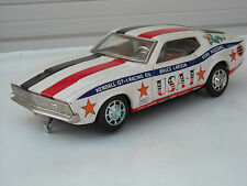 Vintage Japan Tin Litho Taiyo Bruce Larson Ford Mustang USA 1 Car