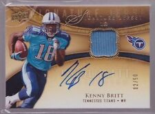 2009 Upper Deck Exquisite Kenny Britt On Card Auto Jersey Rc Serial # To 50 RARE