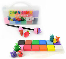 Creatibles Colourful Eraser/Rubber Making Kit - Fun DIY - Build - Bake - Erase