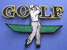 BRAND NEW GOLF PLAYER GOLFER SPORT IRON ON PATCH