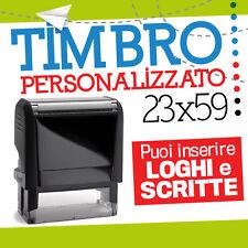 TIMBRO 59*23 mm personalizzato componibile autoinchiostrante datario logo 70104