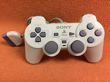 Official OEM Sony PlayStation 1 PSOne PS1 White Dualshock Controller NICE!