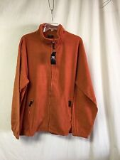 NWT Big Men's Large & In Charge Polar Fleece Zip Up Jacket Size 5XL Rust #141P