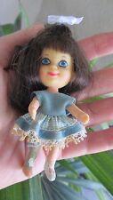 Vintage Liddle Kiddles Telly Viddle Doll Only Little Rare #3751 Mattel Blue Dres