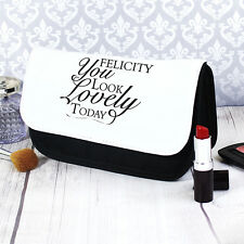 Personalised Look Lovely Make Up Wash Bag Birthday Christmas Gift Present Kids