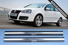 VW Golf GTi Mk5 2 Door Stainless Kick Plates Sill Protector Trims